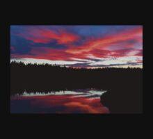Sunset Reflecting Off Seawall Pond Acadia National Park Kids Tee