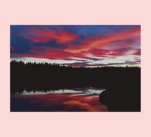 Sunset Reflecting Off Seawall Pond Acadia National Park Kids Clothes
