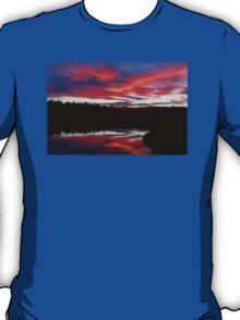 Sunset Reflecting Off Seawall Pond Acadia National Park T-Shirt