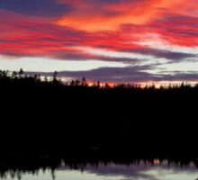 Sunset Reflecting Off Seawall Pond Acadia National Park Sticker