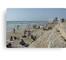 tel aviv Beach Canvas Print