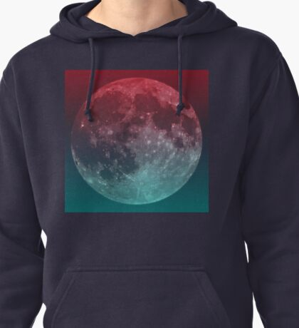 American Werewolf on the Moon (Optical iLLusion)  Pullover Hoodie