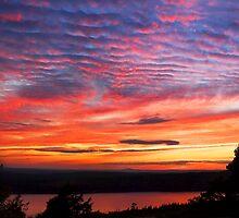 Sunset Eagle Lake in Acadia National Park Maine by KWJphotoart
