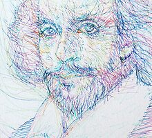 SHAKESPEARE - colored pens portrait by lautir