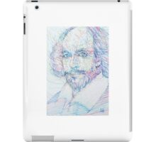 SHAKESPEARE - colored pens portrait iPad Case/Skin