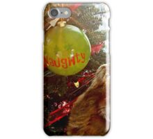 Naughty Cat And The Christmas Tree iPhone Case/Skin
