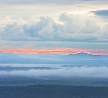 Blue Hill from Cadillac Mountain Acadia National Park by KWJphotoart