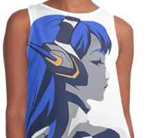Futuristic blue haired girl Contrast Tank