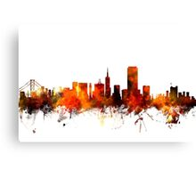 San Francisco City Skyline Canvas Print