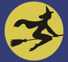 Witch Flying By The Moon by HolidaySwagg