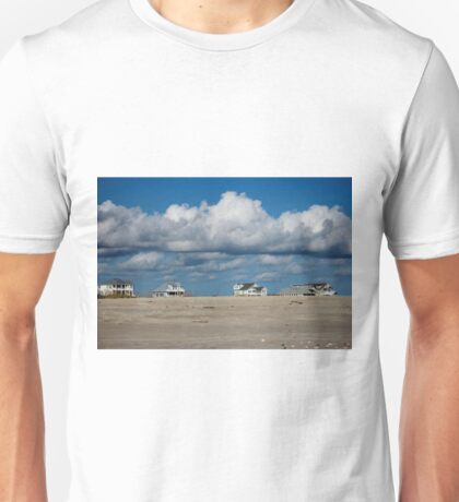Clouds Over Beach Houses Unisex T-Shirt