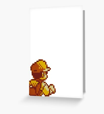 Red from Pokemon (Ash) Greeting Card