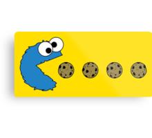 Cookie Monster Pacman Metal Print