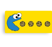 Cookie Monster Pacman Canvas Print
