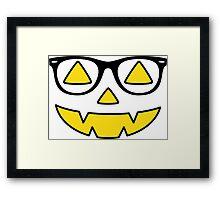 Smart Pumpkin Framed Print