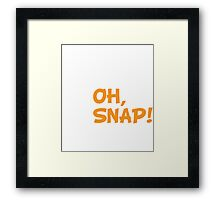 Oh, Snap! Funny Broken Leg Skeleton Framed Print