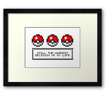 Decisions, Decisions... Framed Print
