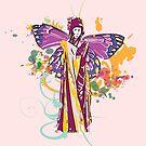fairy with broken wing and swirls by Mark Malinowski