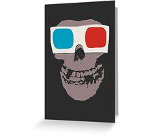 Misfits 3d Skull Greeting Card