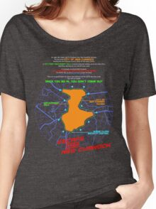 Escape From New Cumnock Orientation Map Women's Relaxed Fit T-Shirt