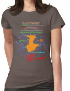 Escape From New Cumnock Orientation Map Womens Fitted T-Shirt