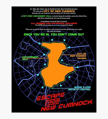 Escape From New Cumnock Orientation Map Photographic Print