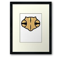 Shedinja Pokemon Head Framed Print