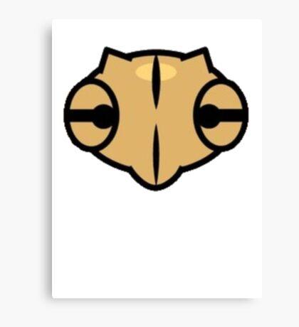 Shedinja Pokemon Head Canvas Print