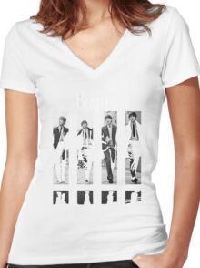 THE BEATLES Women's Fitted V-Neck T-Shirt