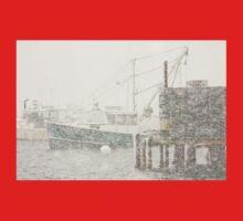 Bass Harbor in Heavy Snowstorm, Mount Desert Island, Maine Kids Tee