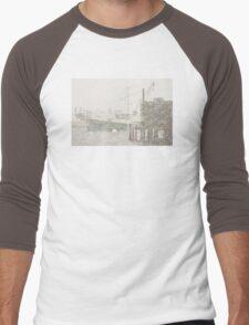 Bass Harbor in Heavy Snowstorm, Mount Desert Island, Maine Men's Baseball ¾ T-Shirt