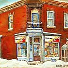 BEST SELLING VERDUN MONTREAL PRINT DEPANNEUR SEPT JOURS VERDUN SNOW SCENE PAINTING by Carole  Spandau
