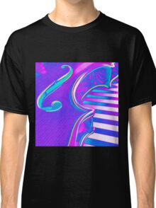 Psychedelic Violin in Pink Purple n Aqua Classic T-Shirt