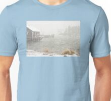 Heavy Snowstorm in Bass Harbor, Mount Desert island, Maine Unisex T-Shirt