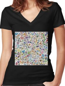 poke 4 Women's Fitted V-Neck T-Shirt