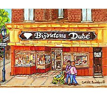 RUE WELLINGTON VERDUN CITY SCENE BIJOUTERIE DUBE BEST SELLING MONTREAL PRINTS Photographic Print