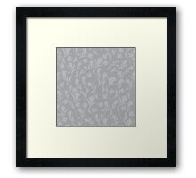 Grey tulips Framed Print