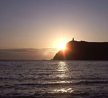 Sunset on Bradda Head, Port Erin, Isle of Man by John Morris