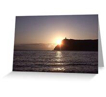 Sunset on Bradda Head, Port Erin, Isle of Man Greeting Card
