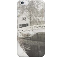 Snow Storm In Somesville Maine Photograph iPhone Case/Skin