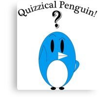 Quizzical Penguin Canvas Print