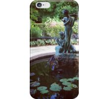 Conservatory Garden Fountain, Harlem iPhone Case/Skin