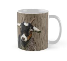 Adorable young goats on textured background in browns Mug