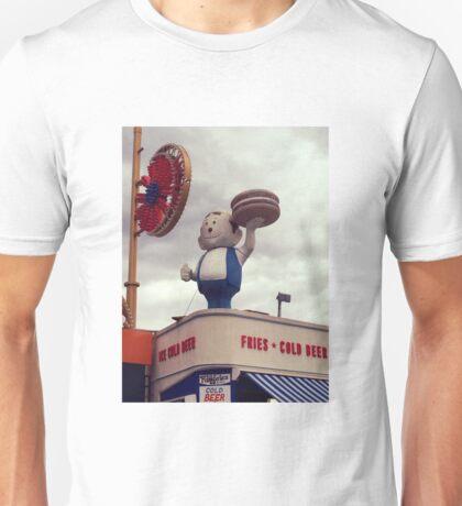 Burger Boy, Coney Island Brooklyn Unisex T-Shirt