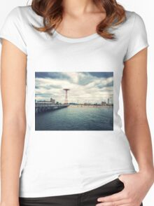 Coney Island Rides, Brooklyn Women's Fitted Scoop T-Shirt