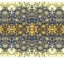 Fleur Vintage pattern - antique hyacinth Photographic Print