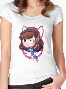 OVERWATCH D VA Women's Fitted Scoop T-Shirt