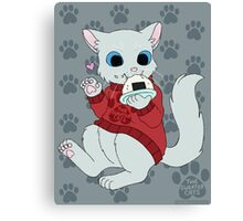 thesweatercats - Rice Ball Canvas Print