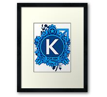 FOR HIM - K Framed Print
