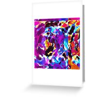 purple pink blue orange yellow and red spiral painting abstract background Greeting Card
